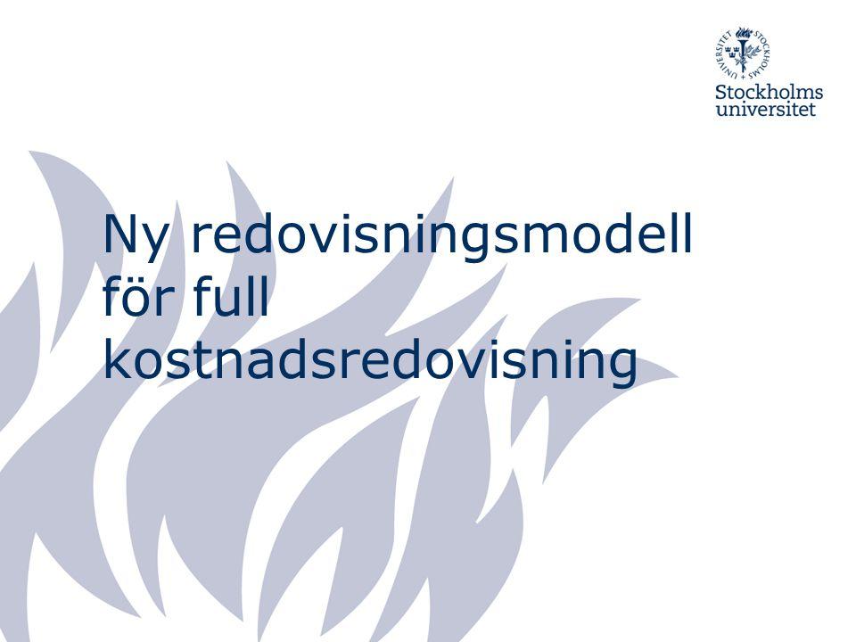 Ny redovisningsmodell för full kostnadsredovisning