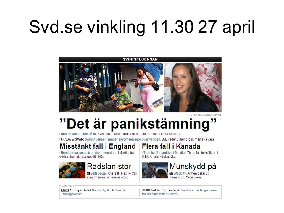 Svd.se vinkling 11.30 27 april