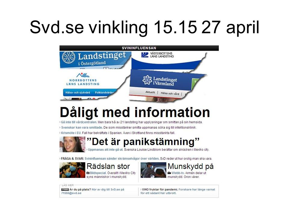 Svd.se vinkling 15.15 27 april