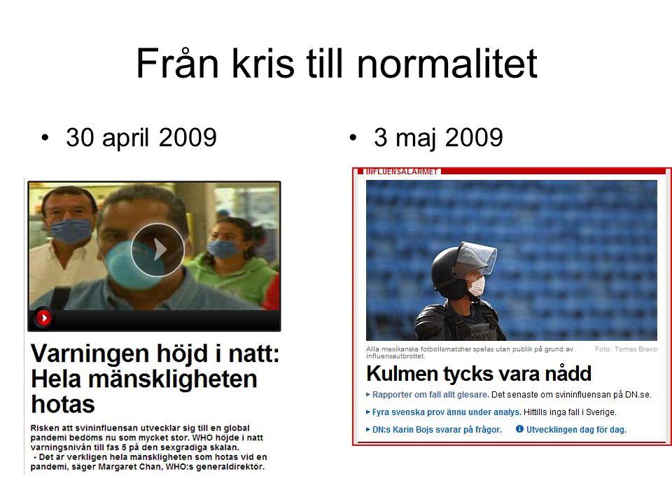 Från kris till normalitet •30 april 2009•3 maj 2009