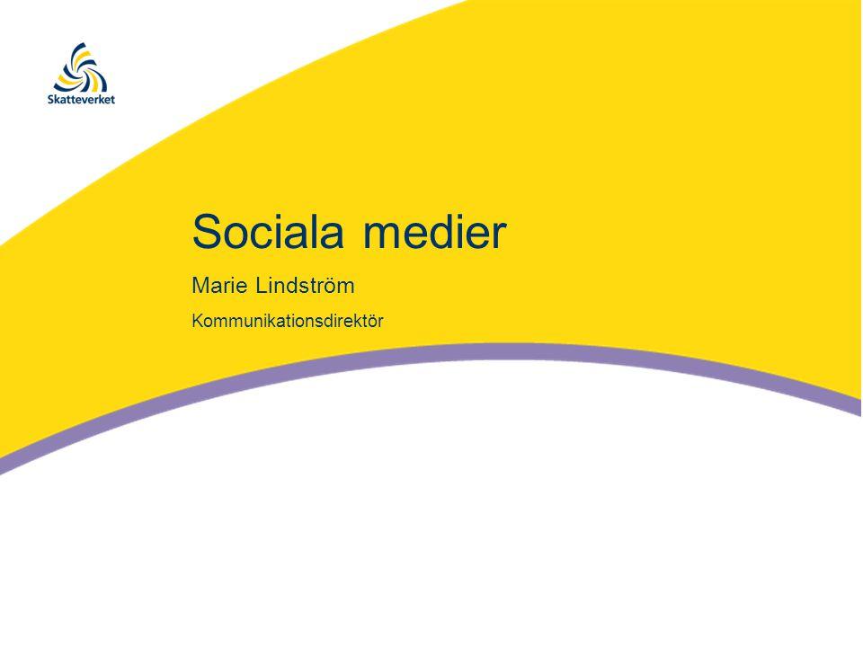 Sociala medier Marie Lindström Kommunikationsdirektör