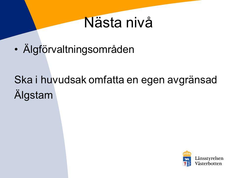 Arealkrav för licensområde •100 ha Robertsfors och Skellefteå kommun utom Kalvträsk och Jörns församling •150 ha Norsjö kommun, Kalvträsk och Jörn församling, Vindeln, Umeå, Vännäs, Bjurholm och Nordmalings kommun •300 ha Lycksele kommun •400 ha Storuman, Sorsele och Åsele kommun •500 ha Vilhelmina, Dorotea och Malå kommun