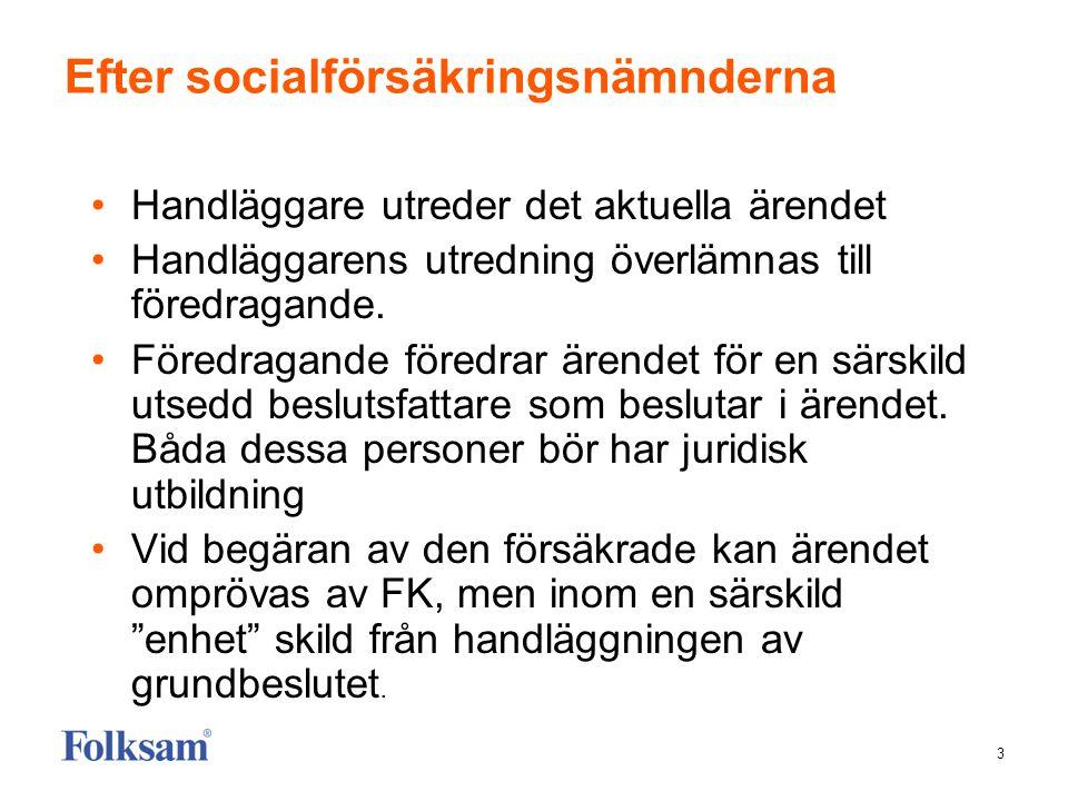 3 Efter socialförsäkringsnämnderna •Handläggare utreder det aktuella ärendet •Handläggarens utredning överlämnas till föredragande.