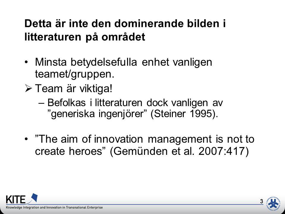 4 Men när det nu är så här,..att individer/uppfinnare är viktiga för företags framgång.