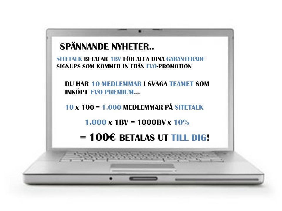 DET ÄR 150€ PER MÅNAD I PASSIV INKOMST! GULD MEDLEMMAR HAR 10% COMMISSION