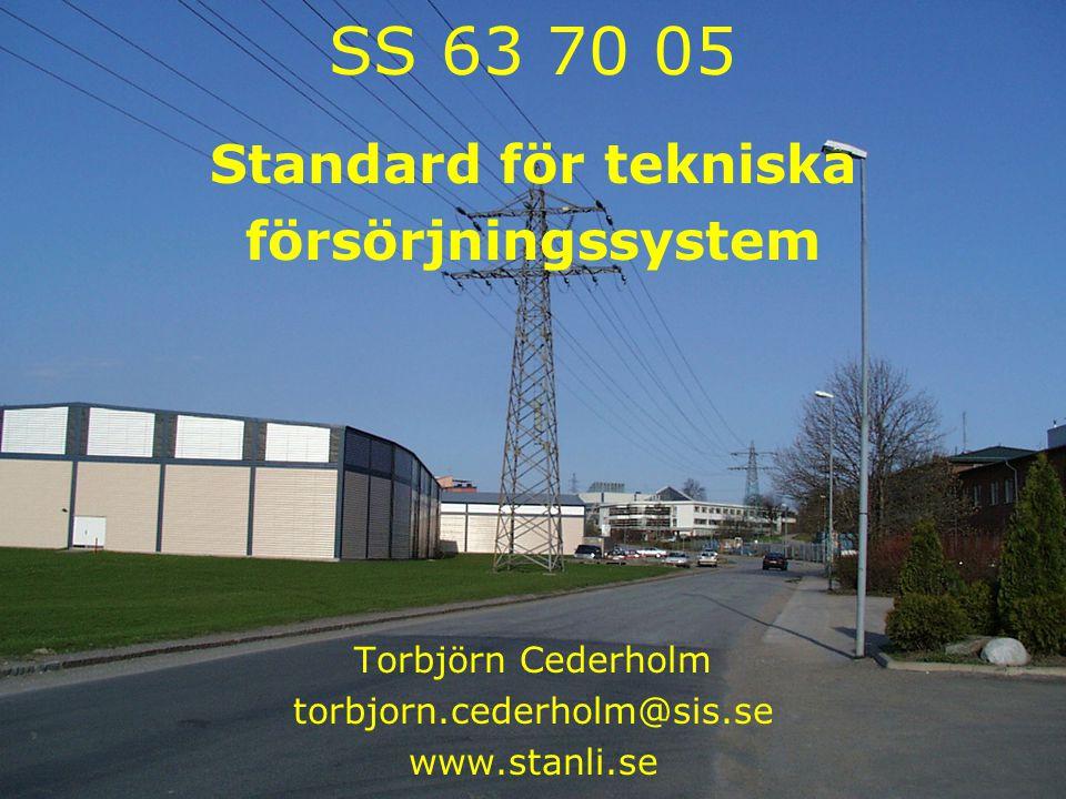 Samlingskartor 2004-10-19 1 SS 63 70 05 Standard för tekniska försörjningssystem Torbjörn Cederholm torbjorn.cederholm@sis.se www.stanli.se