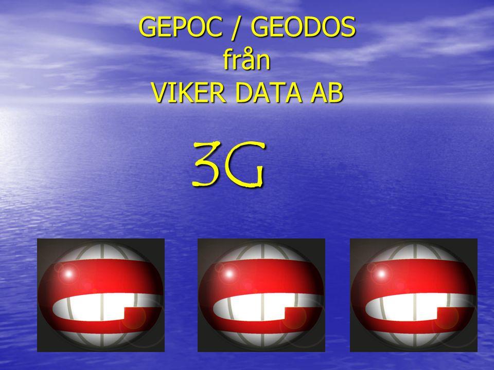 GEPOC / GEODOS från VIKER DATA AB 3G