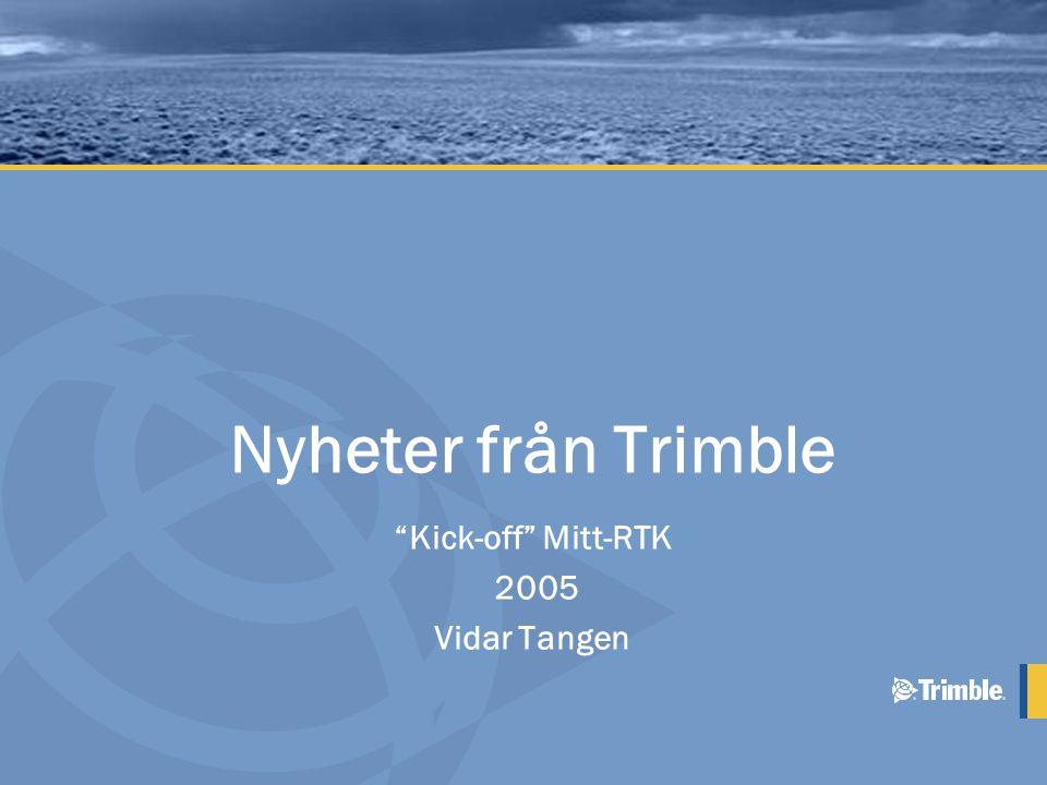 Uppdaterad R-track teknologi •L5 Tracking –GPS moderniseringen stöds av Trimble –L5 sänds från Block IIF satelliterna från 2007 –L5 ger en extra carrier phase/ bärvåg mätning P(Y) L2CM C/A P(Y)M L5 L2 L1