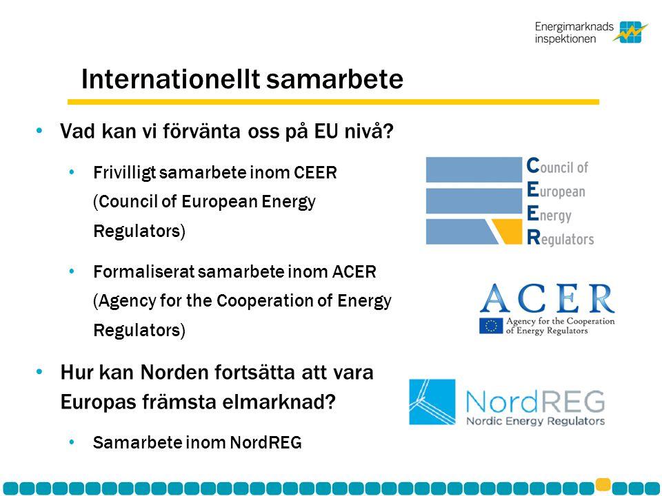 Internationellt samarbete • Vad kan vi förvänta oss på EU nivå.