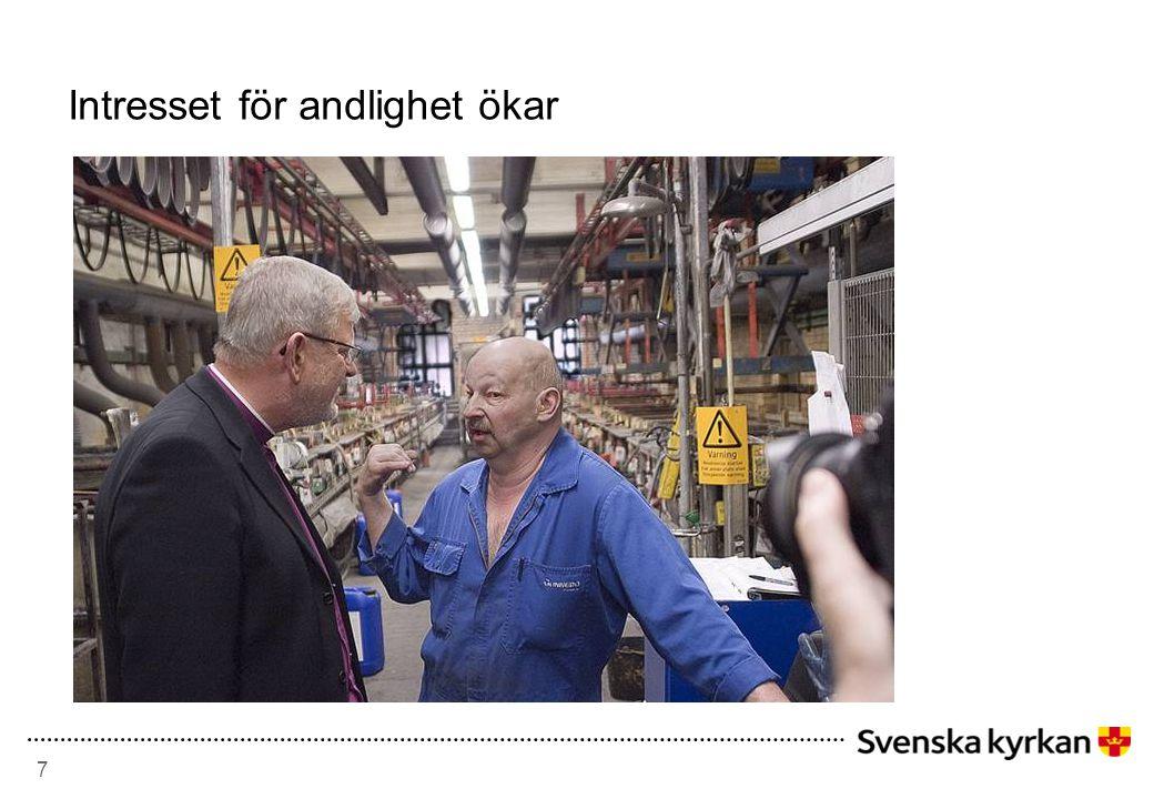 8 Mediebruset ökar Det blir allt viktigare för Svenska kyrkan att kommunicera Källa: Aftonbladet