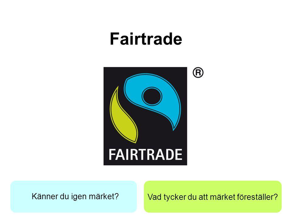 Vad tycker du att märket föreställer? Fairtrade Känner du igen märket?