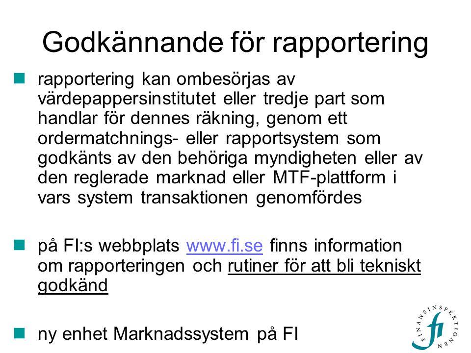 Nyheter på webben  ISIN-lista  BIC-lista svenska värdepappersinstitut och svenska filialer till utländska värdepappersinstitut inom kort  MIC-förteckningen The International Organization for Standardization  handledning web-applikationen inkl behörighetsansökan