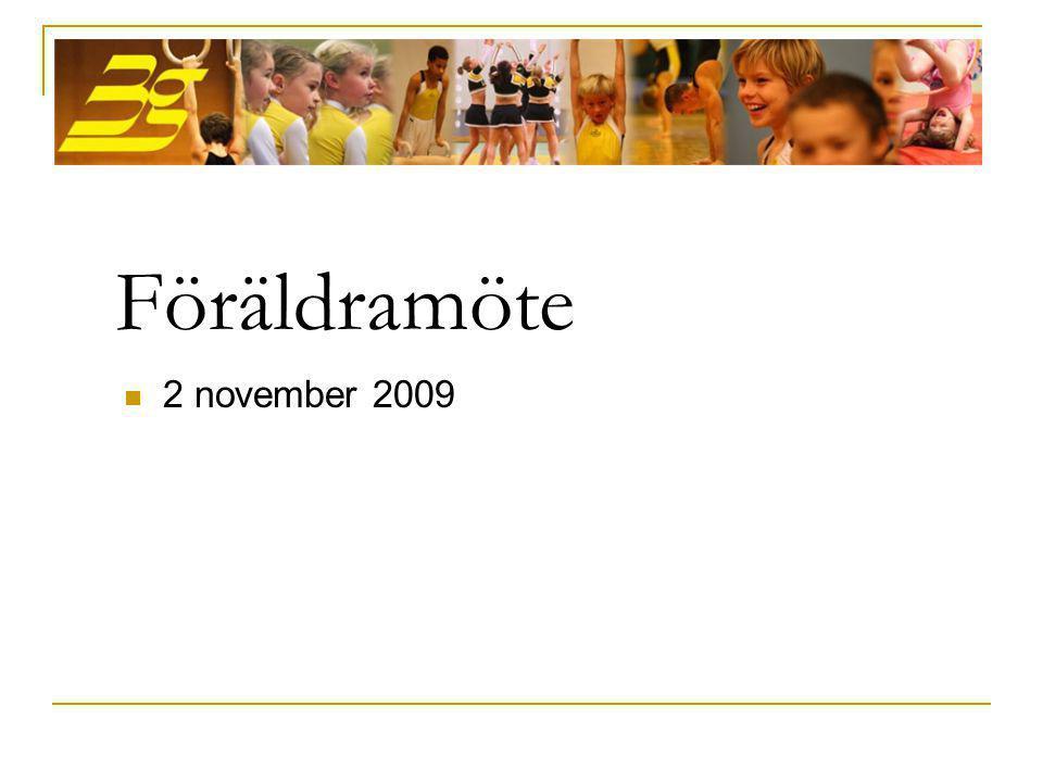 Föräldramöte  2 november 2009