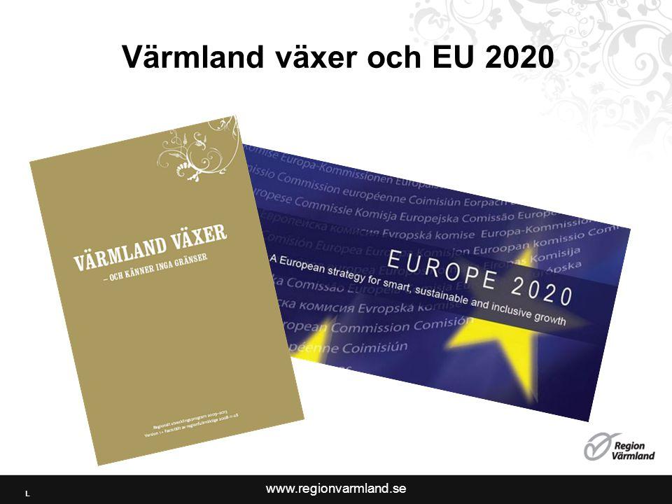 www.regionvarmland.se Värmland växer och EU 2020 L