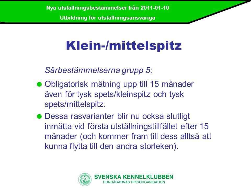 Nya utställningsbestämmelser från 2011-01-10 Utbildning för utställningsansvariga Tilläggskrav för utländsk champion o För samtliga raser gäller att för att tilldelas SE UCh krävs ett certifikat i Sverige oavsett ålder om ett certifikat inom Norden är erövrat efter 24 månader (samt eventuella övriga krav för rasen enligt championatbestämmelserna).
