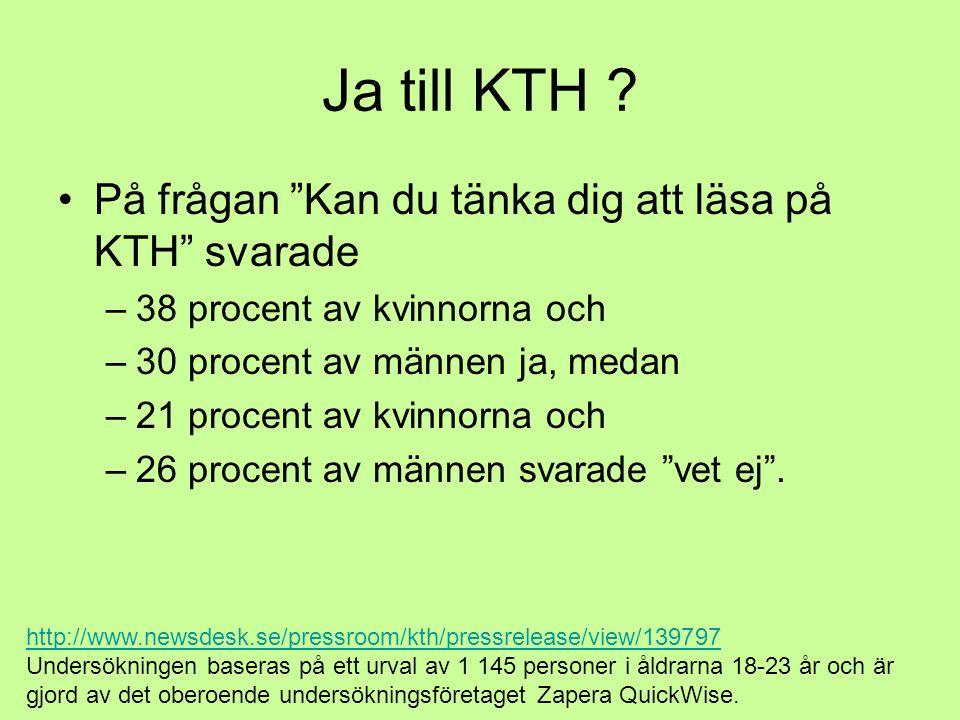 Ja till KTH .