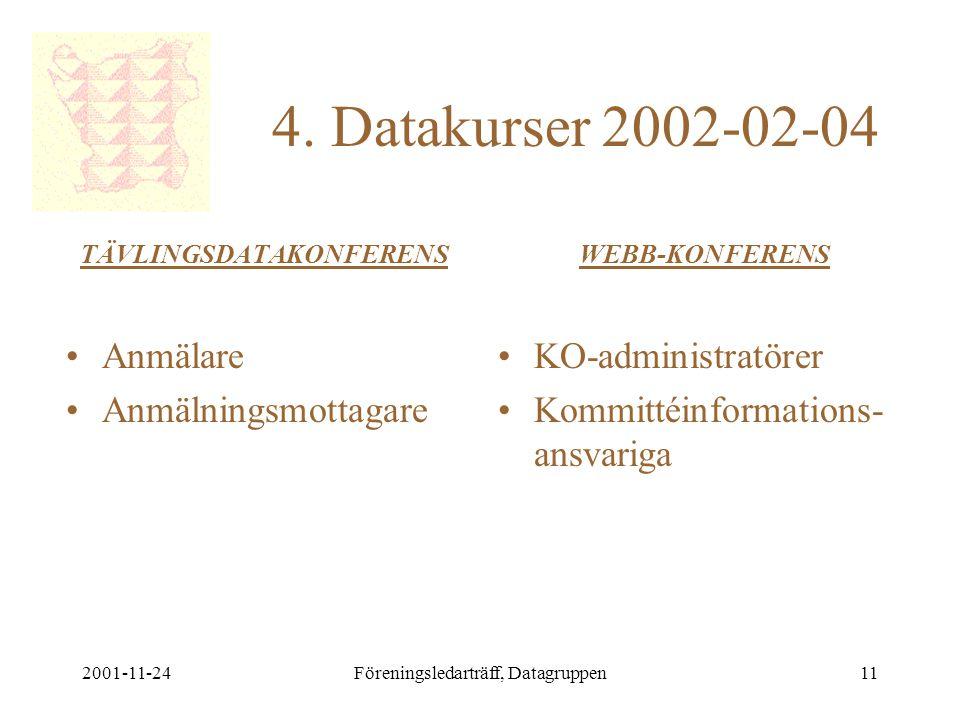 2001-11-24Föreningsledarträff, Datagruppen11 4.