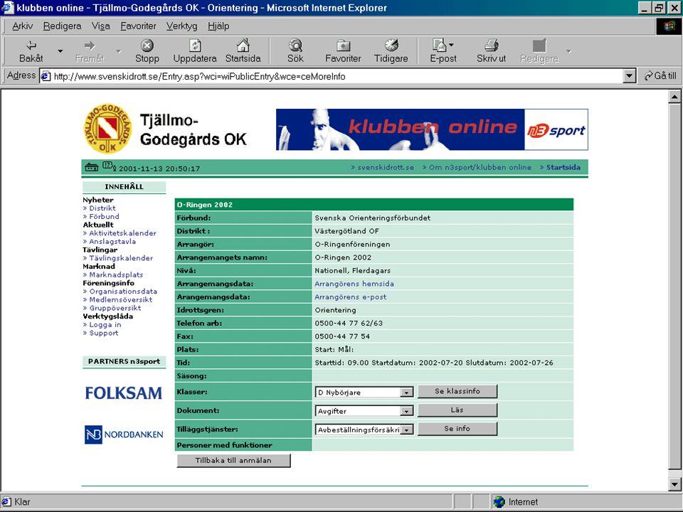 2001-11-24Föreningsledarträff, Datagruppen9 2.OLA •Testtävlingar med OLA •Kandidater.