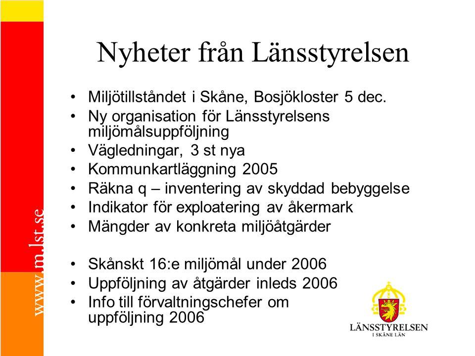 Skånes miljömål och miljöhandlingsprogram 15 Miljökvalitets- mål 70 delmål 300 åtgärder •Ska uppnås.