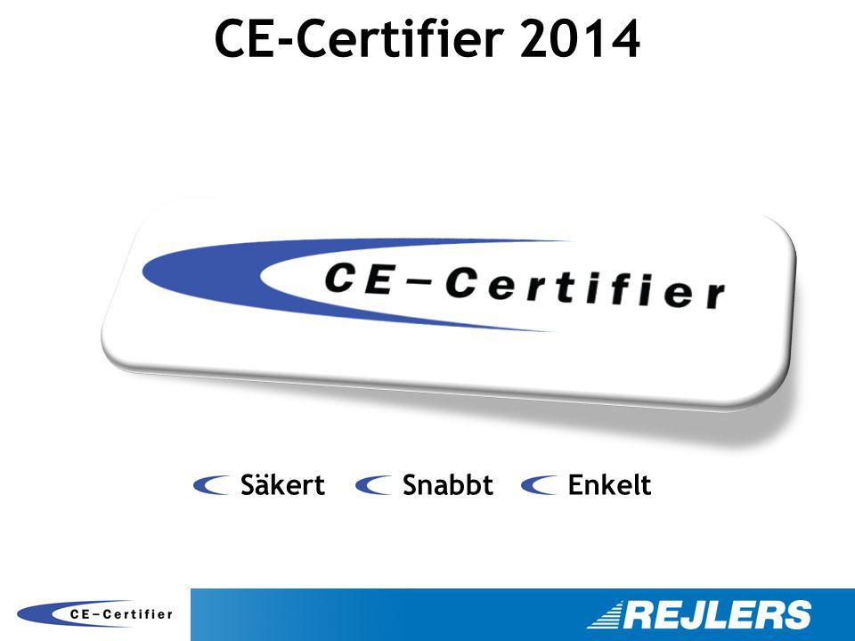 CE-Certifier 2014 Säkert SnabbtEnkelt