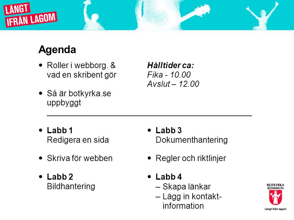 Labb 3: Ladda upp och byta dokument (Sid 20-21)  Gå till startsidan.