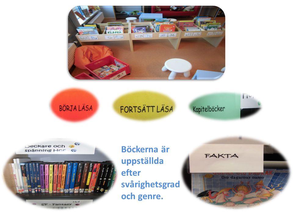 Böckerna är uppställda efter svårighetsgrad och genre.