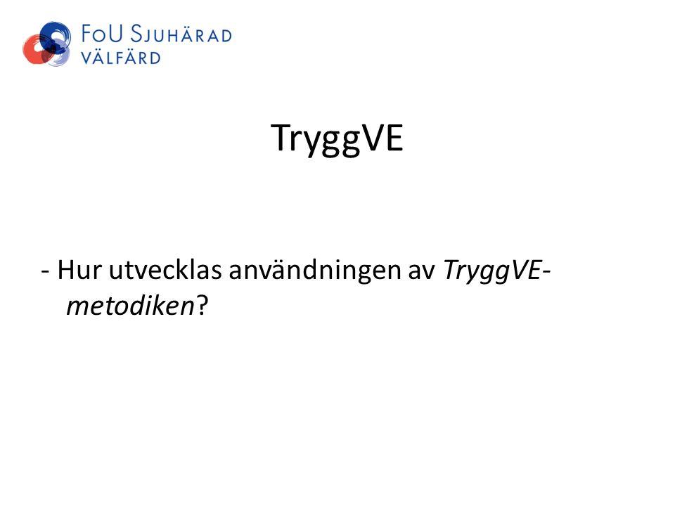 TryggVE - Hur utvecklas användningen av TryggVE- metodiken?