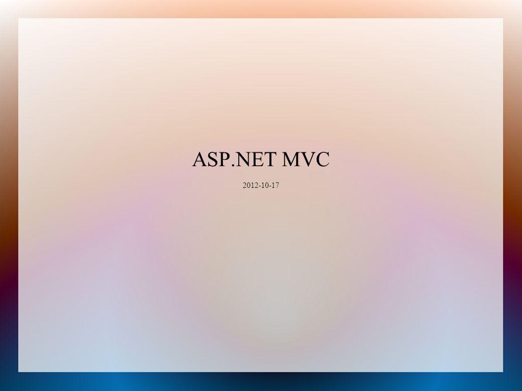 ASP.NET MVC 2012-10-17