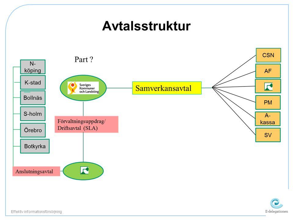 Avtalsstruktur Effektiv informationsförsörjning