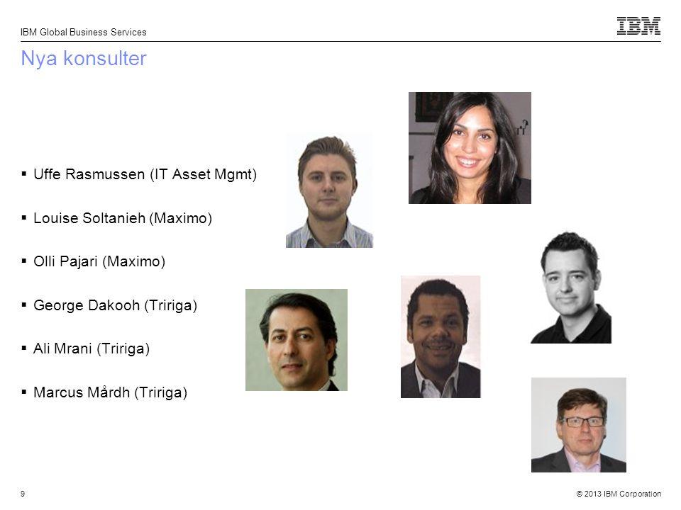 © 2013 IBM Corporation IBM Global Business Services 10 Våra certiferade konsulter  Magnus Eriksson (7.5)  Jan Carlstedt (7.5)  Jonas Lindeqvist (7.5)  Jonas Back (7.5)  Håkan Nordstedt (7.5)  Elin Pegreus (7.5)  Peter Bergström (7.5)  Håkan Redgert (Tririga)  Patrik Nilsson (Tririga)