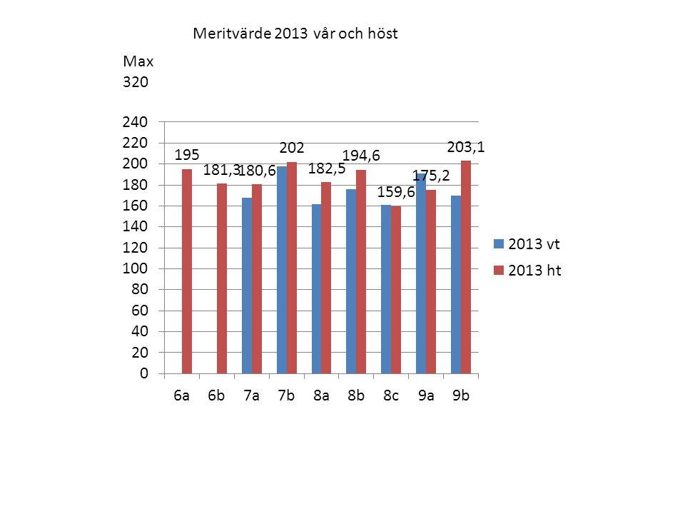 Meritvärde 2013 vår och höst Max 320