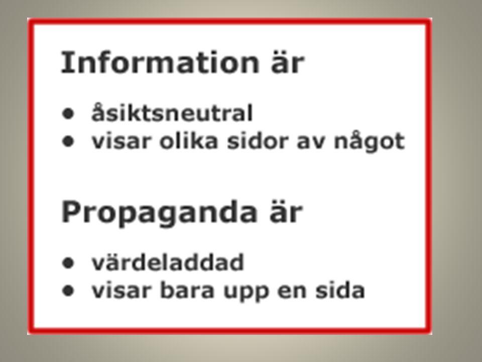 Information vs. propaganda