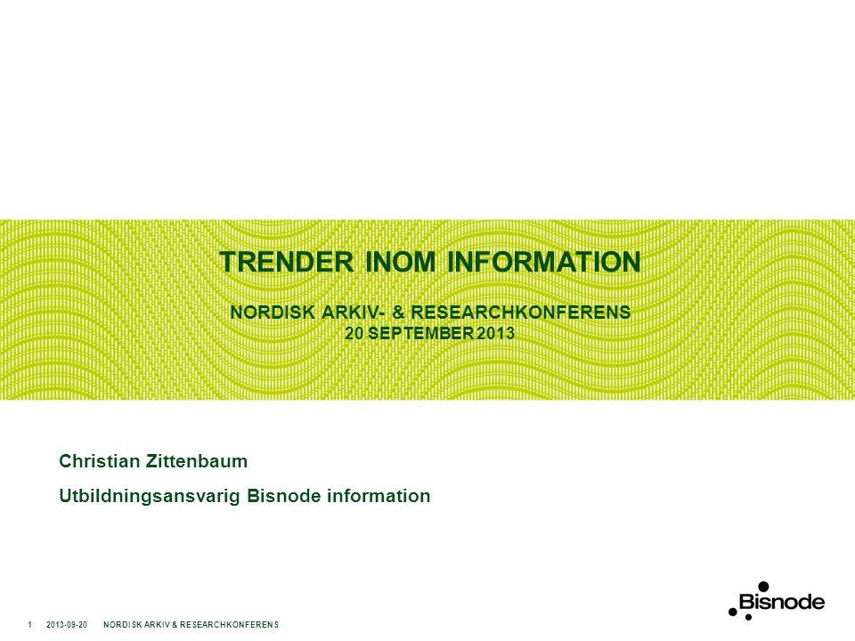 TRENDER INOM INFORMATION En trend just nu är att man ska inhämta information hos gratistjänster, sociala medier och via sökmotorer.