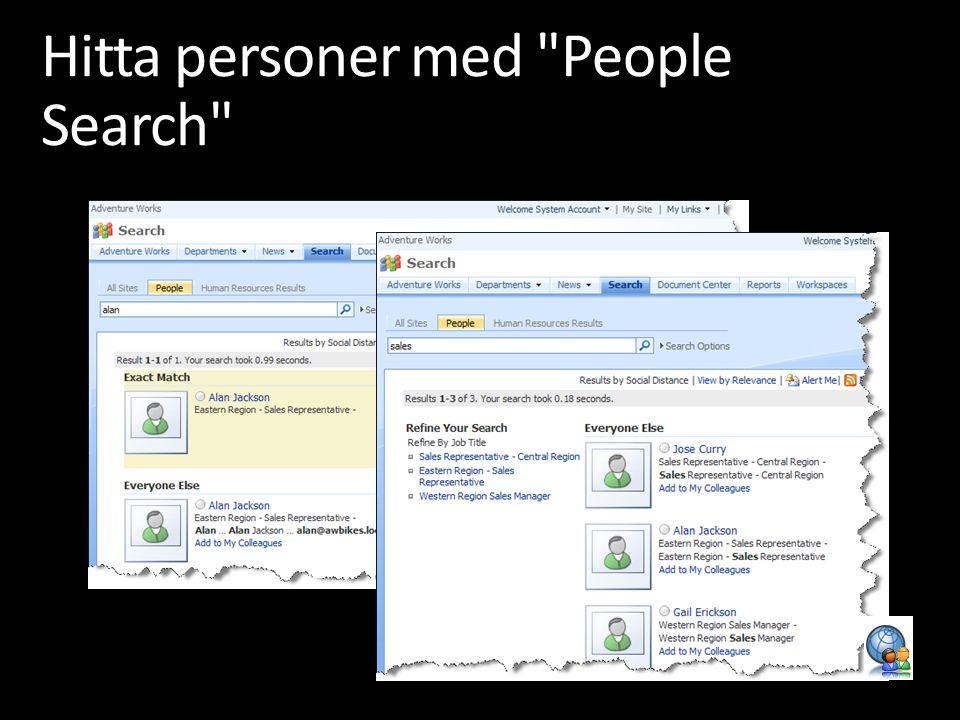 Hitta personer med People Search