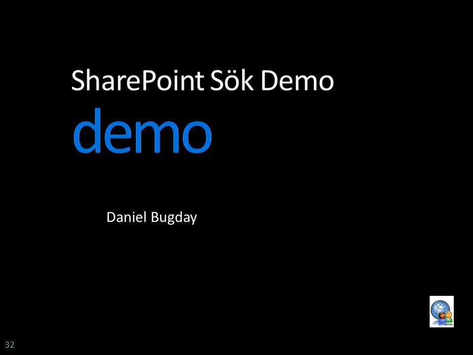 32 SharePoint Sök Demo Daniel Bugday
