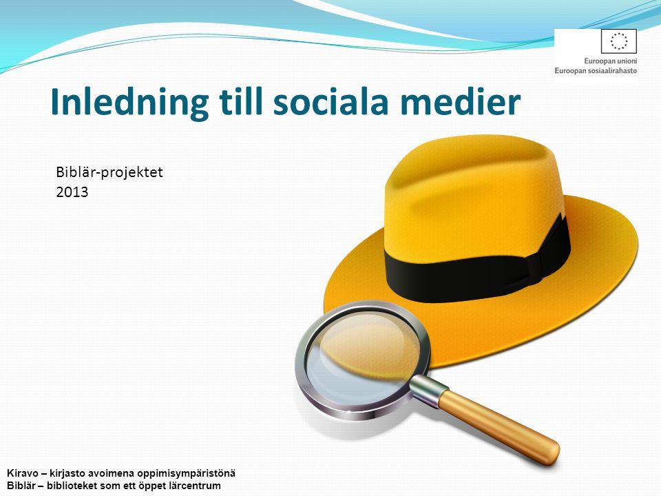 Vad är sociala medier.