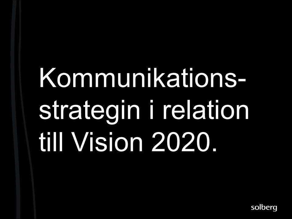 Kommunikations- strategin i relation till Vision 2020.