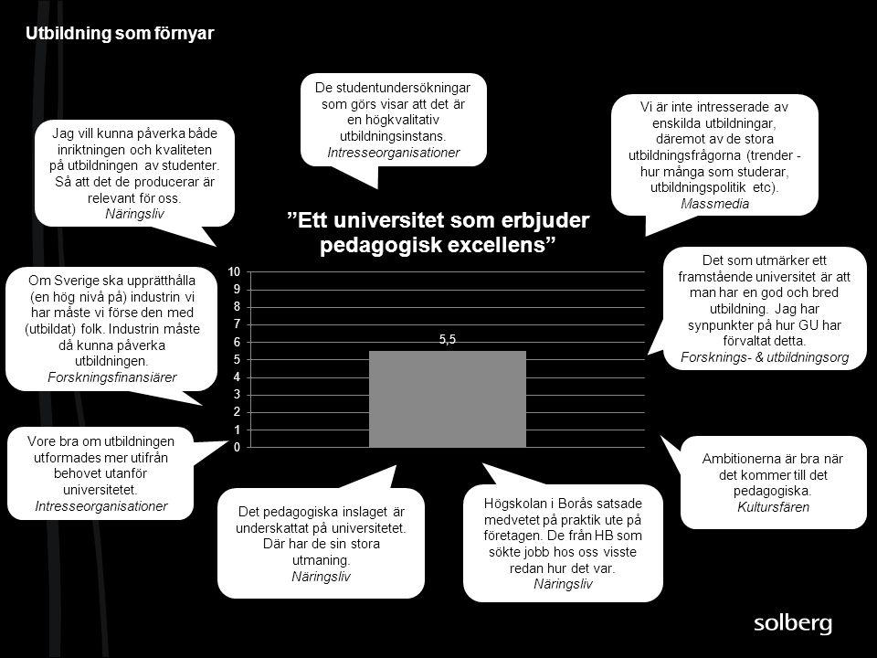 Vi är inte intresserade av enskilda utbildningar, däremot av de stora utbildningsfrågorna (trender - hur många som studerar, utbildningspolitik etc).