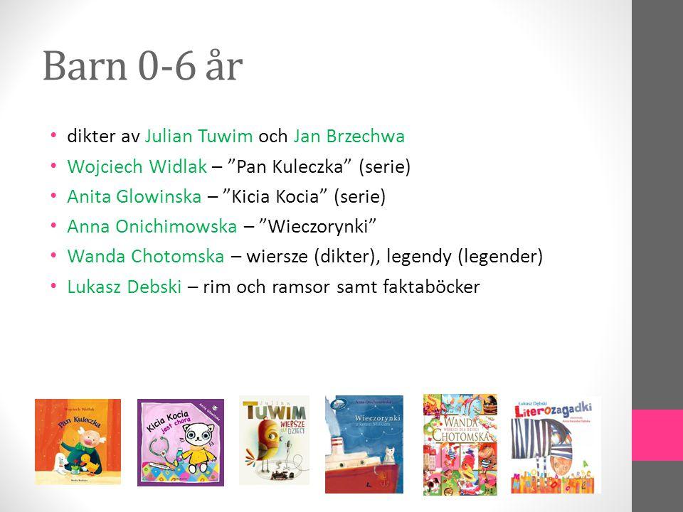 Rekommenderade förlag • Literatura – bästa polska författare för barn och ungdom Literatura • Nasza Ksiegarnia – Polens äldste barnboksförlag, många klassiker, lite nytt Nasza Ksiegarnia • Znak – bra barnböcker, ofta kristna värderingar Znak • Mantra Lingua – britiskt förlag, dubbelspråkiga böcker (polska/engelska) Mantra Lingua