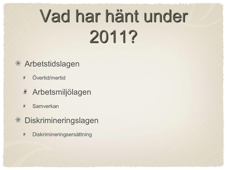 Vad har hänt under 2011.