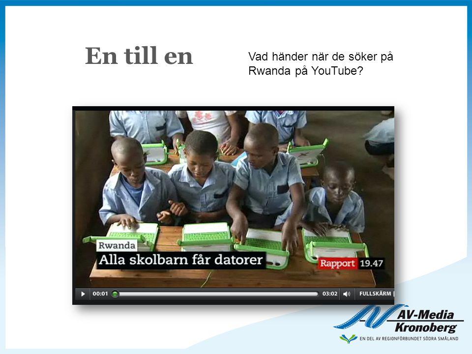 En till en Vad händer när de söker på Rwanda på YouTube?