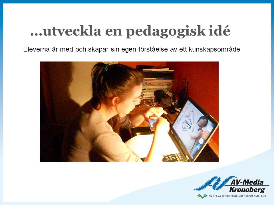 …utveckla en pedagogisk idé Eleverna är med och skapar sin egen förståelse av ett kunskapsområde