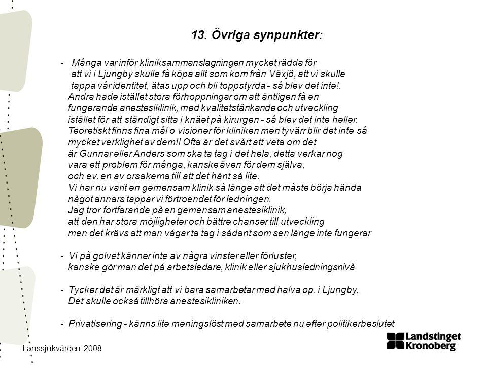Länssjukvården 2008 13.