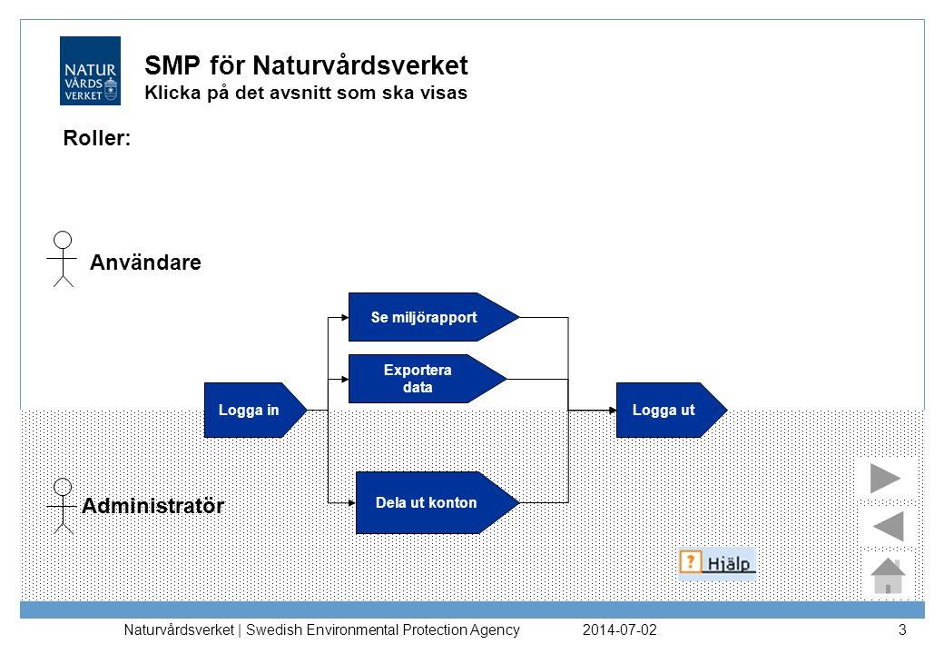 2014-07-02 Naturvårdsverket | Swedish Environmental Protection Agency 14 Vill du fördjupa dig mer i SMP.