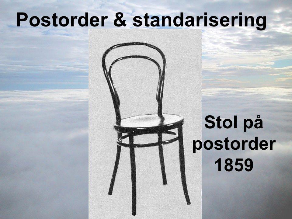 Stol på postorder 1859 Postorder & standarisering