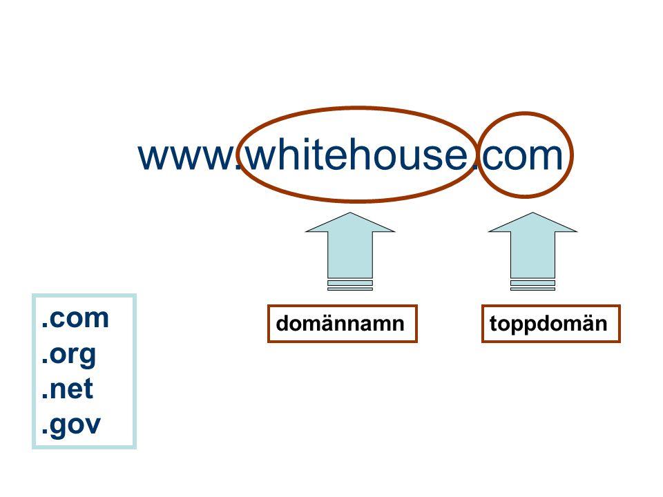 toppdomändomännamn www.whitehouse.com.com.org.net.gov