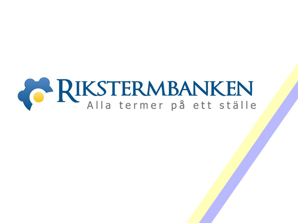 Västra vägen 7 B 169 61 Solna Telefon: 08-446 66 00 Telefax: 08-446 66 29 Webbplats: www.tnc.se E-post: tnc@tnc.se © Terminologicentrum TNC 13.5 svDFsvensk definition: Innehåller definitioner, dvs.