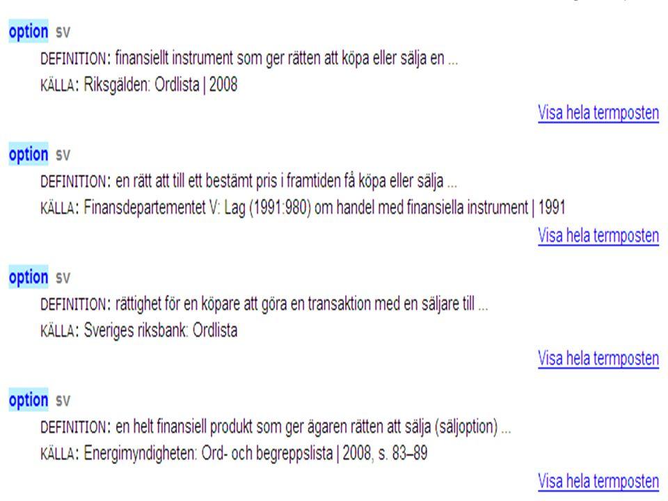 Västra vägen 7 B 169 61 Solna Telefon: 08-446 66 00 Telefax: 08-446 66 29 Webbplats: www.tnc.se E-post: tnc@tnc.se © Terminologicentrum TNC x.x För at