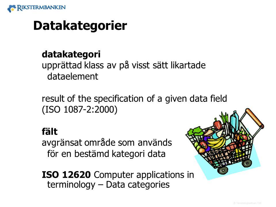 Västra vägen 7 B 169 61 Solna Telefon: 08-446 66 00 Telefax: 08-446 66 29 Webbplats: www.tnc.se E-post: tnc@tnc.se © Terminologicentrum TNC datakatego