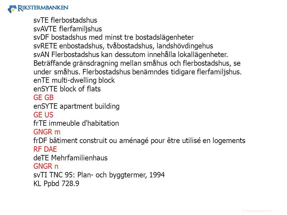 Västra vägen 7 B 169 61 Solna Telefon: 08-446 66 00 Telefax: 08-446 66 29 Webbplats: www.tnc.se E-post: tnc@tnc.se © Terminologicentrum TNC svTE flerb